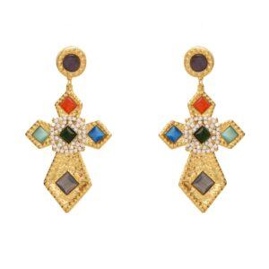 Croci bizantine con cristalli